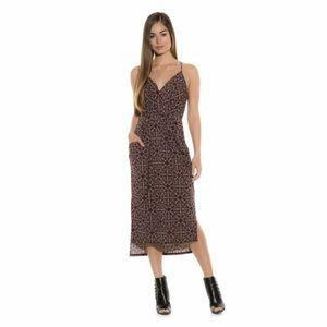 Drape Pocket Midi Dress